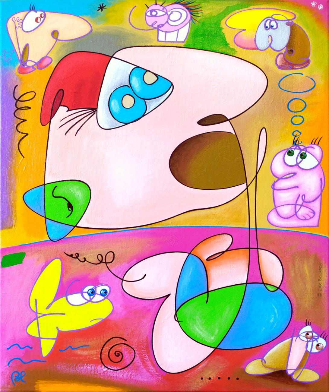 Dumb-Art-65x54cm-Acrylic-painting-by-Eric-Bourdon