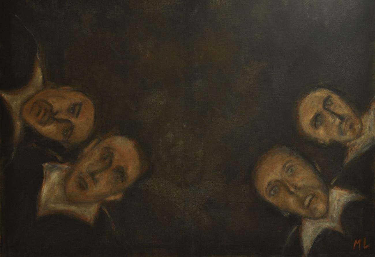 Leçon d'Anatomie, oil on canvas. 120 x 90 cm