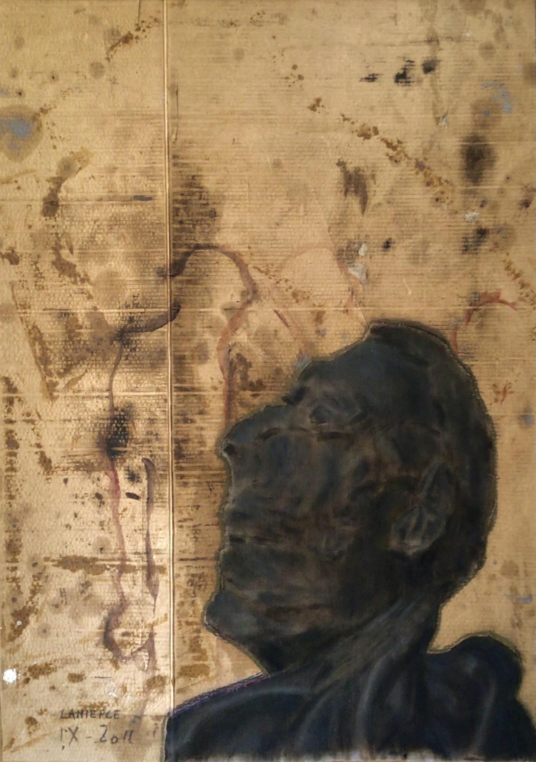 Maigres Trésors, oil on canvas and cardboard 88 x 124 cm