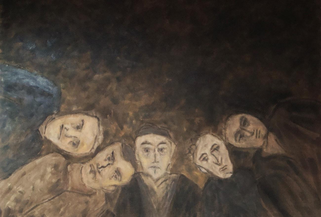 Naissance, oil on canvas 120 x 90 cm