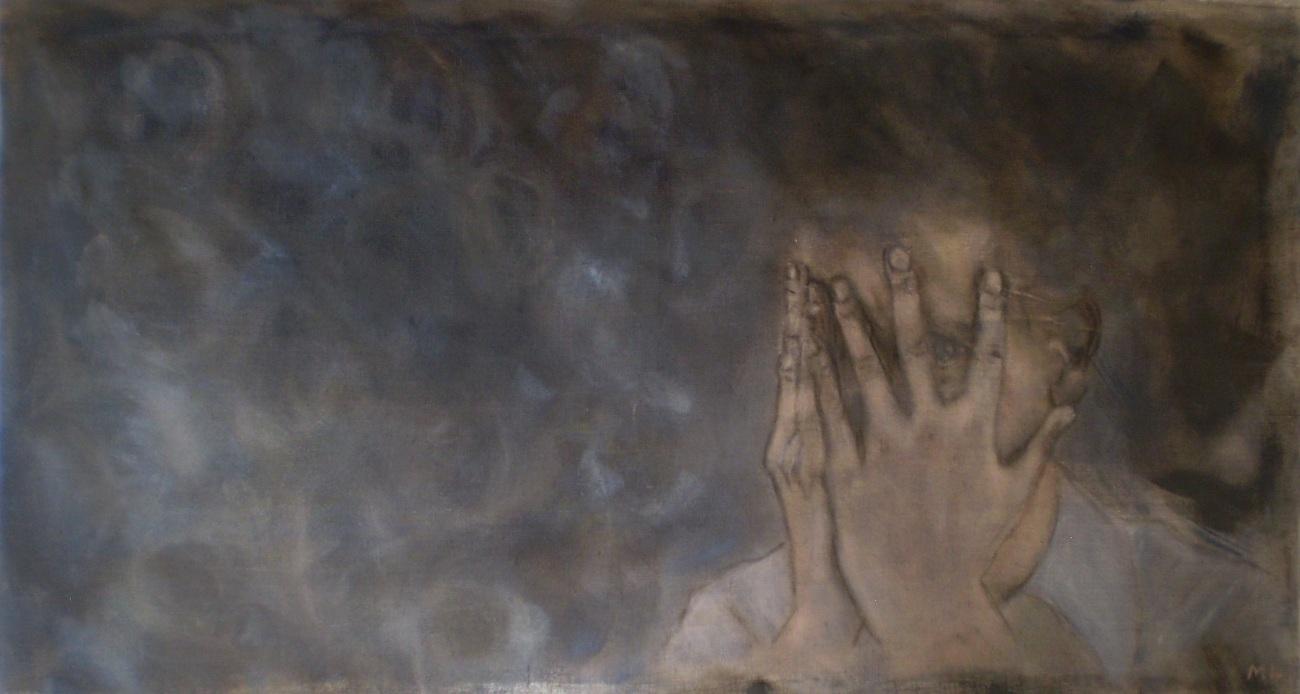 Orphée Ocellé, oil on canvas 125 x 65 cm