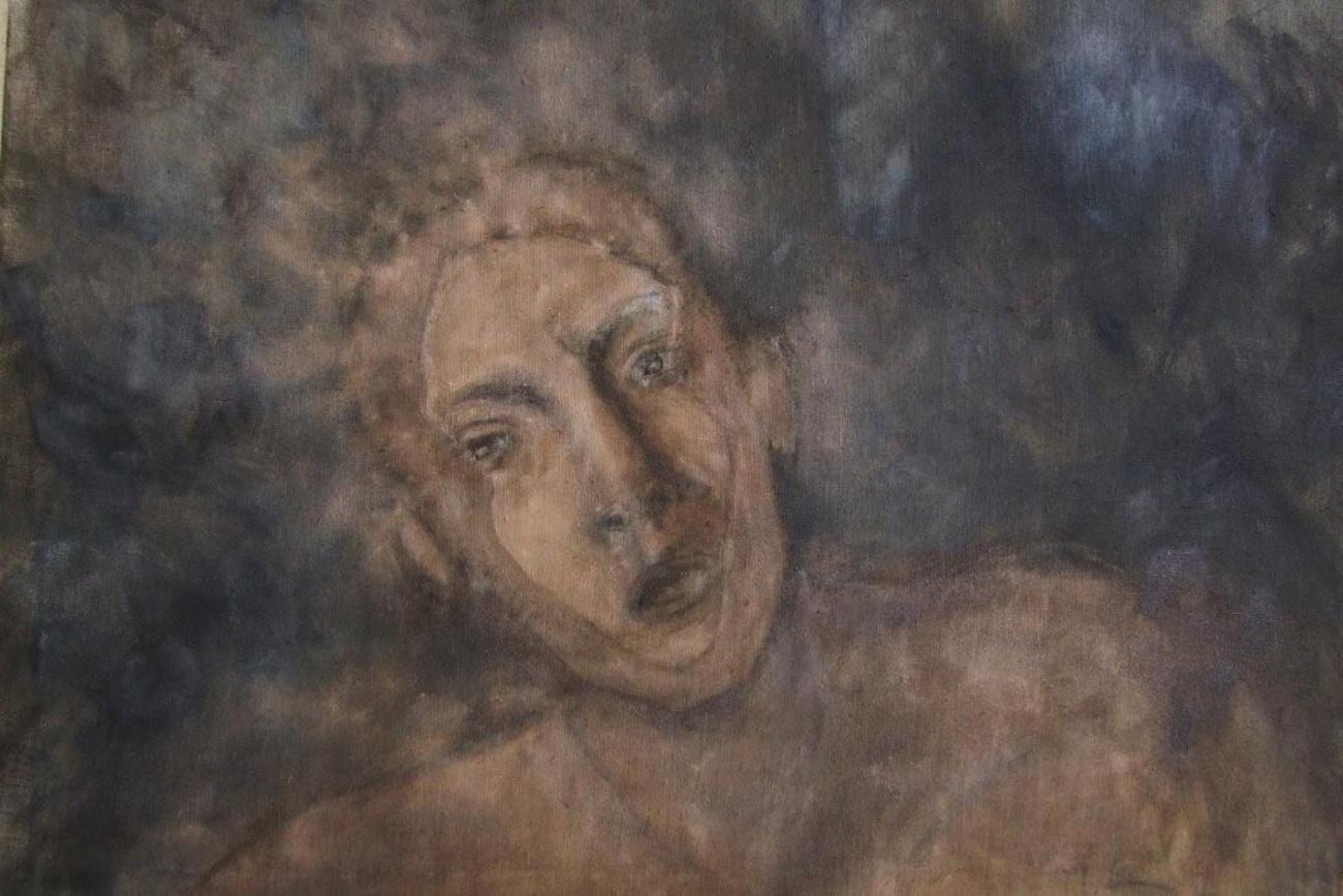 Réminiscence, oil on canvas 120 x 75 cm