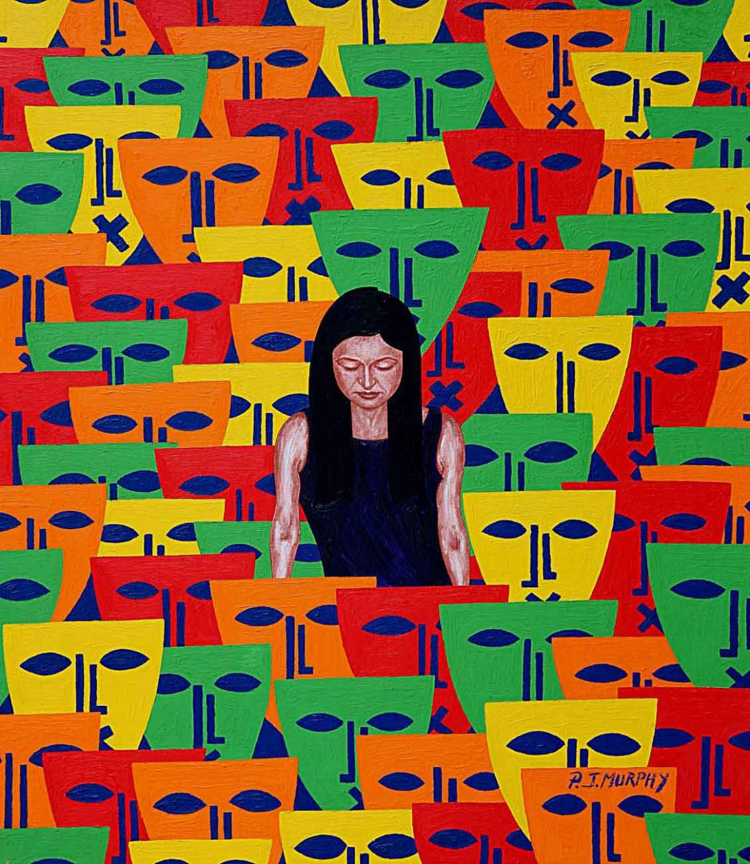 IMAGE 6 LONELY IN A CROWD oil paint