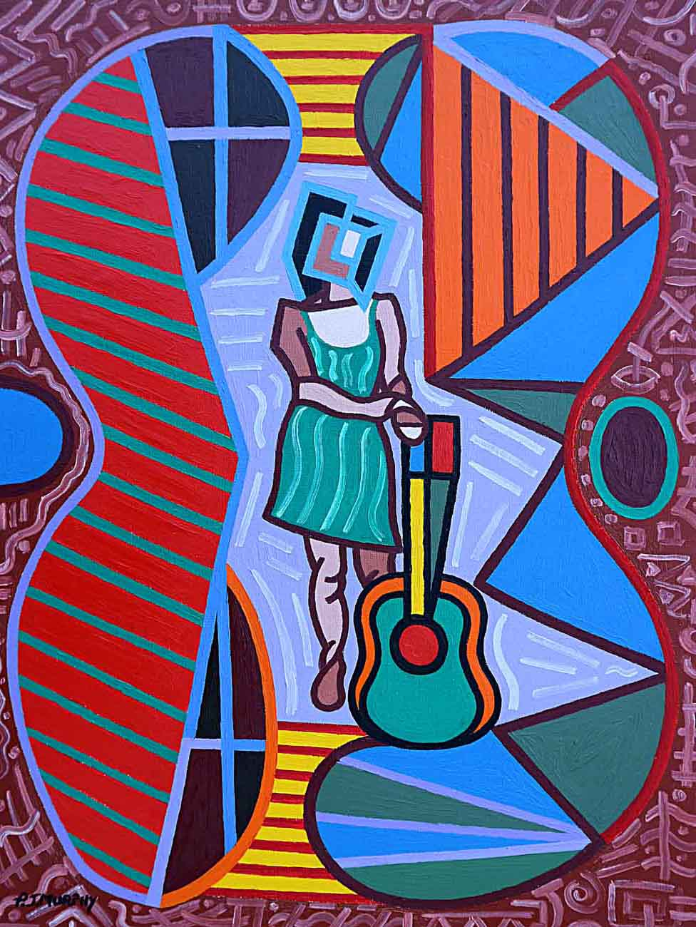 IMAGE 8 THIS GUITAR IS MORE THAN AN INSTRUMENT oil paint