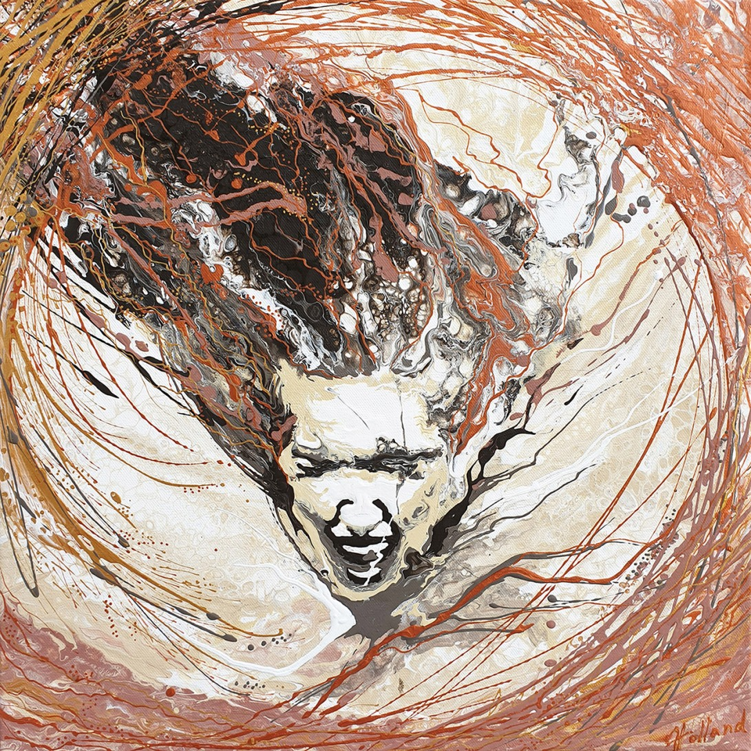 Luba Holland-Vivaldi.Storm 50x50 cm