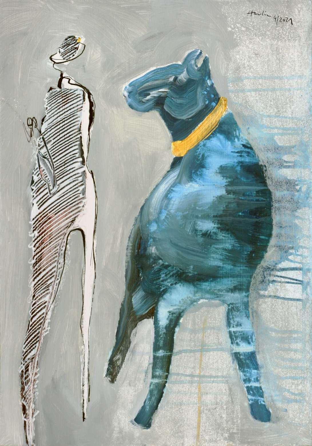 Blue Dog_2021.4_50x35 cm