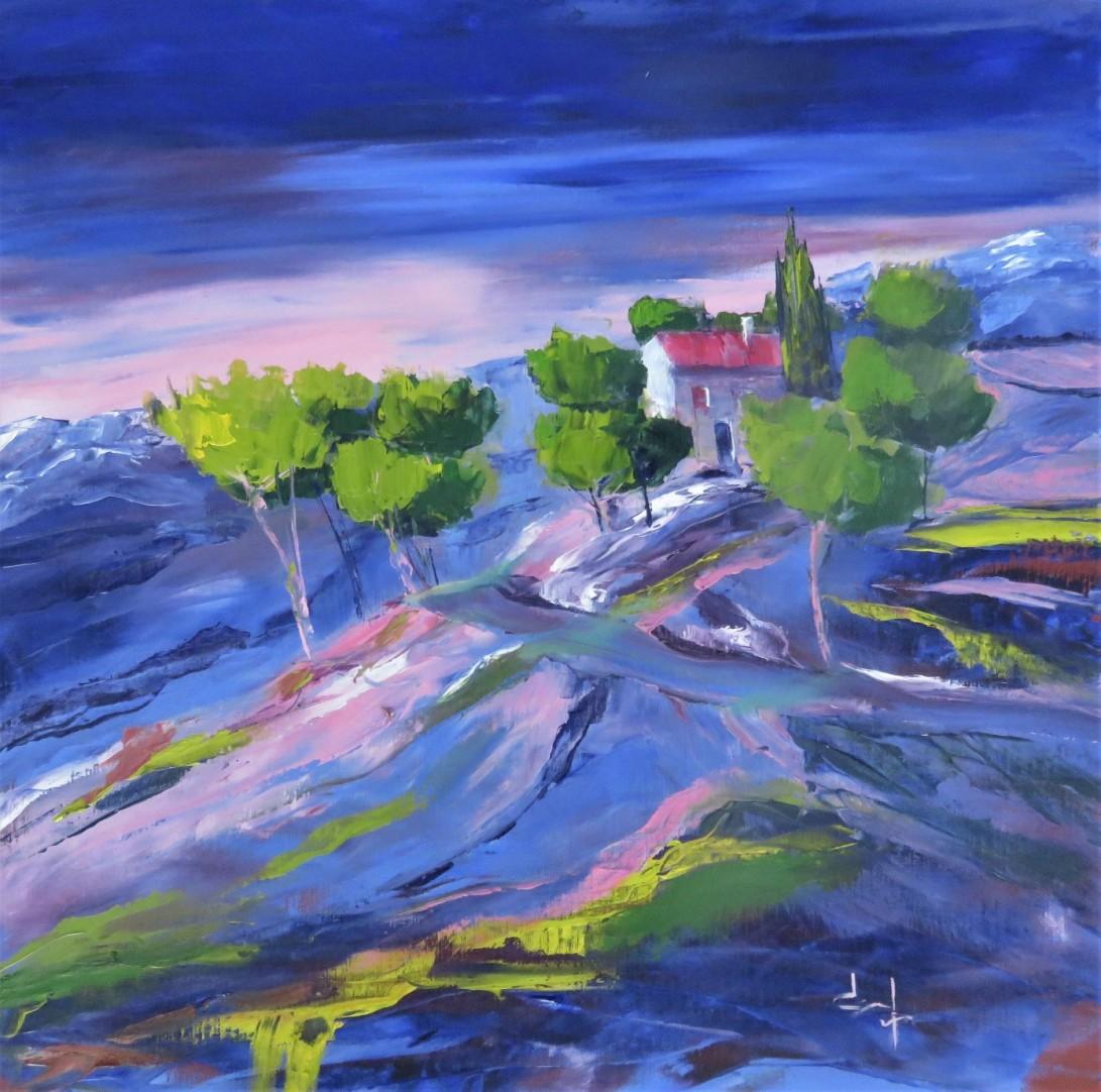 Colline en Provence 50x50 Le Puy